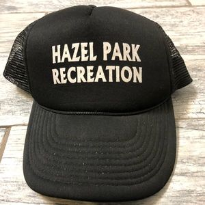 Other - Boys black trucker style hazel park recreation hat